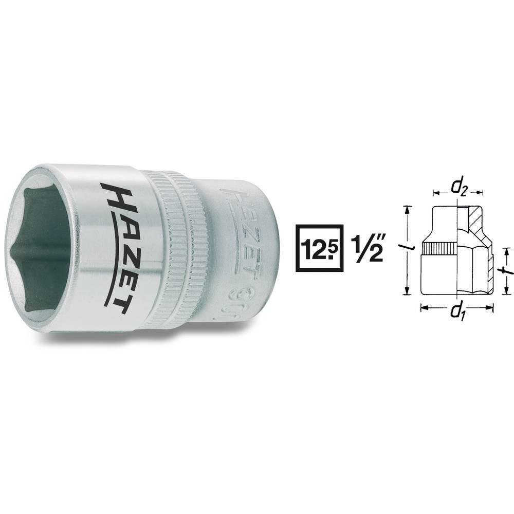 Šestrobi nasadni ključ, notranje štirirobo vpetje 12,5 mm (1/2 cole) Hazet 900-8 velikost ključa 8 mm