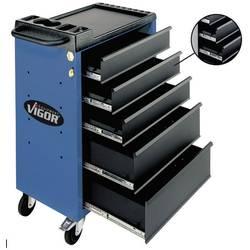 Vigor voziček za delavnico VIGOR 500 s 5 predali Vigor V1396 mere:(D x Š x V) 700 x 500 x 930 mm modre barve