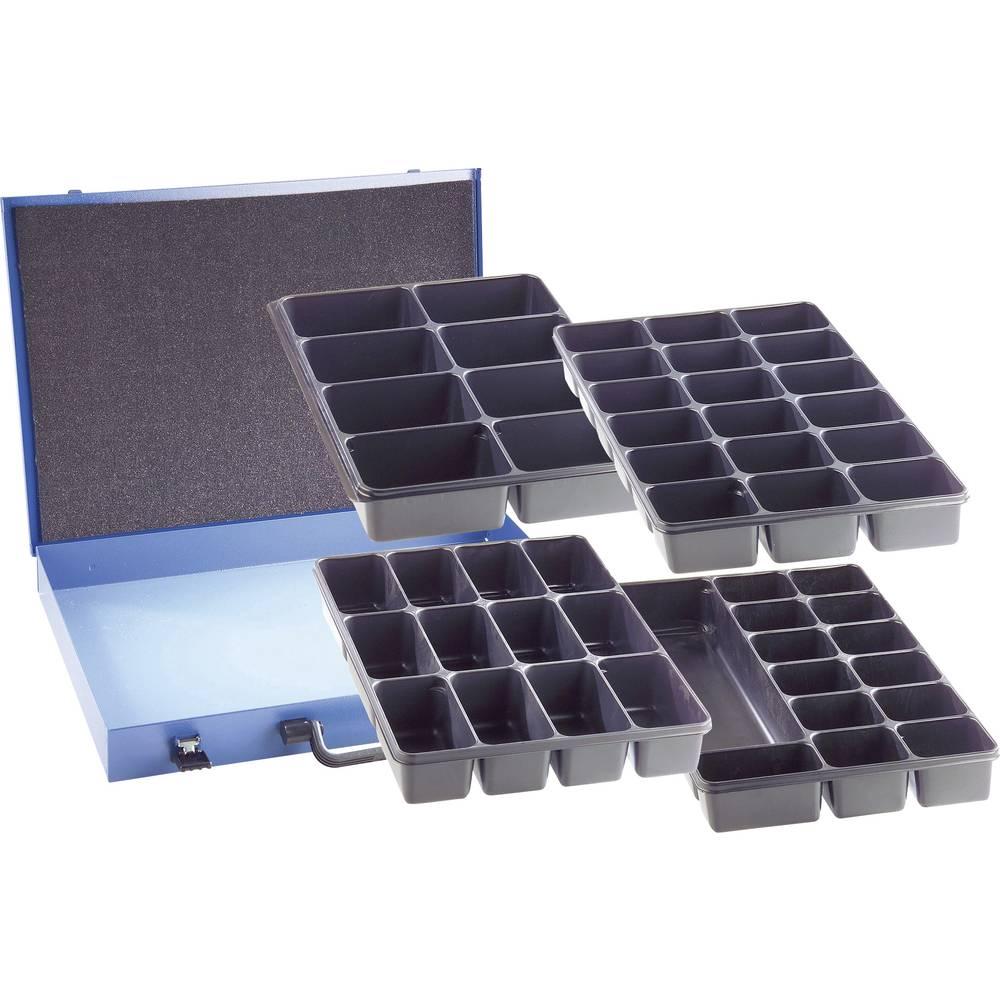 Sortirni kovček (D x Š x V) 330 x 230 x 50 mm št. predalov: 18 fiksna pregraditev