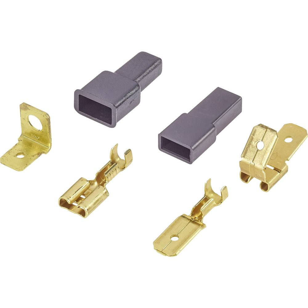 Sortiment avtomobilskih ploščatih vtičev 95 delni komplet 6,3 mm