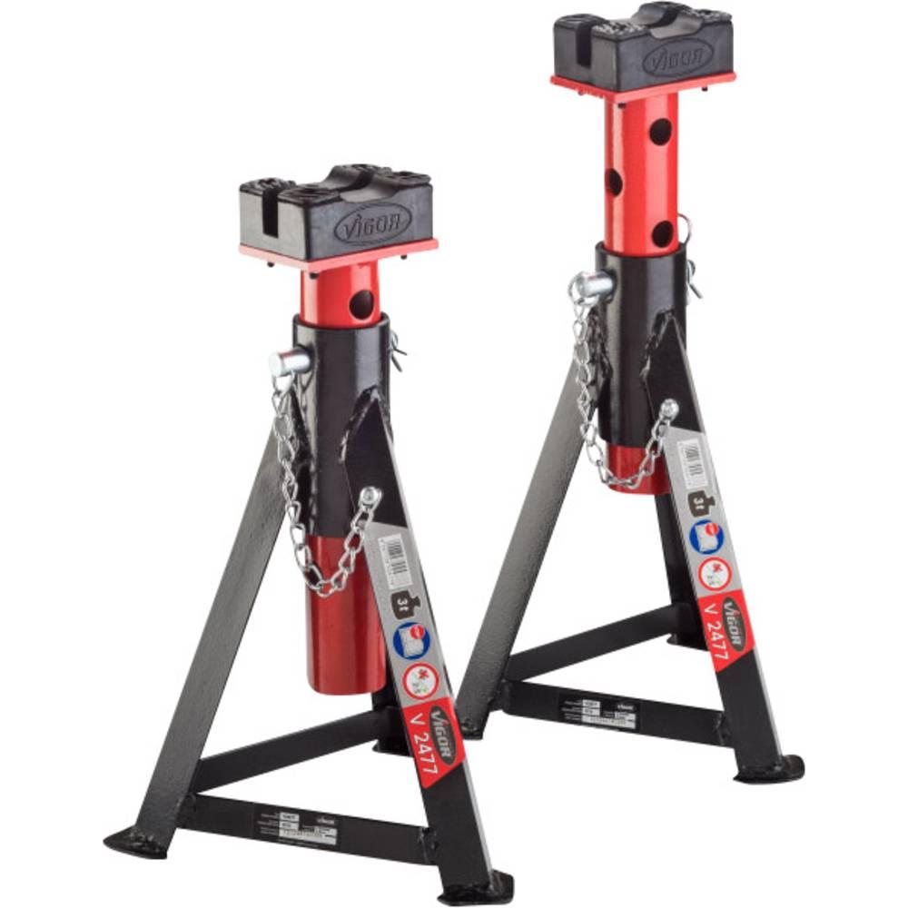 Støttebukke 3t (par) V2477 295 mm 505 mm 3 t Vigor V2477