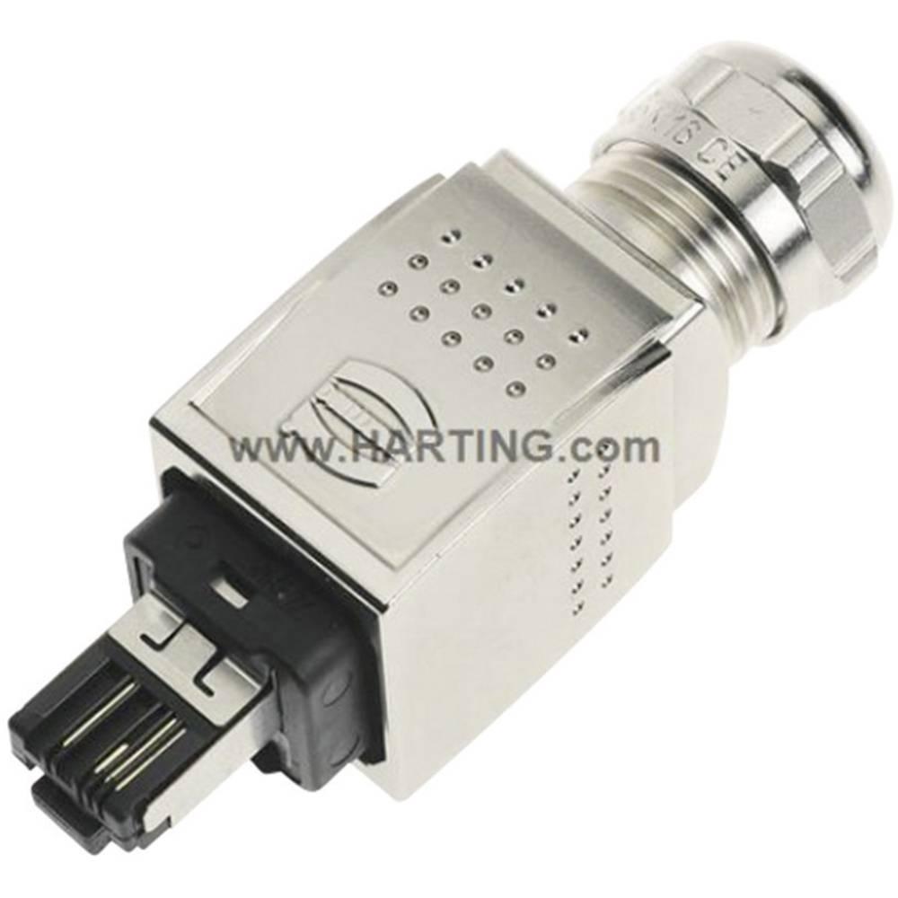 Han® PushPull RJ45-vtični konektor za vtič, raven, polov:4 09 35 221 0401 Harting 09 35 221 0401 1 kos