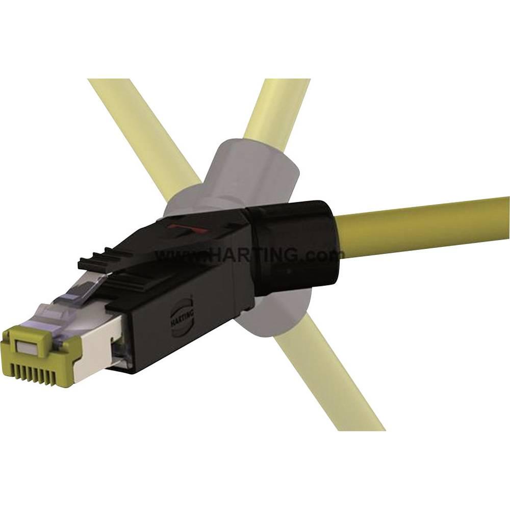 Industrial® vtični konektor,komplet RJ45 10G vtič, kotni Industrial® 10G črne barve Harting 09 45 151 1561 1 kos