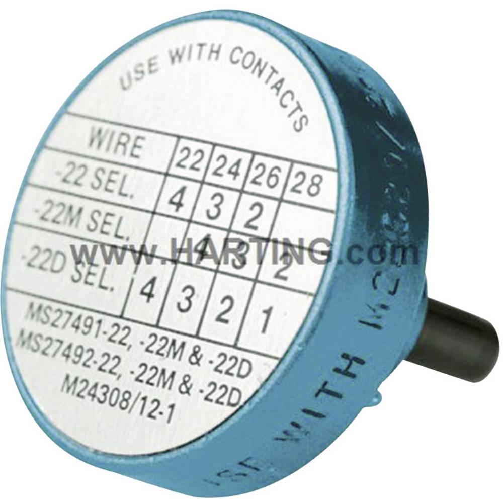 Pozicijski rokav Harting 09 99 000 0531 modre barve 1 kos