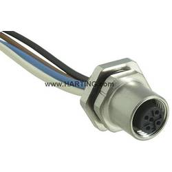 Sensor- /aktor-stikforbinder til indbygning M12 Tilslutning, indbygning Pol-tal (RJ): 4 Harting 21 03 311 2400 1 stk