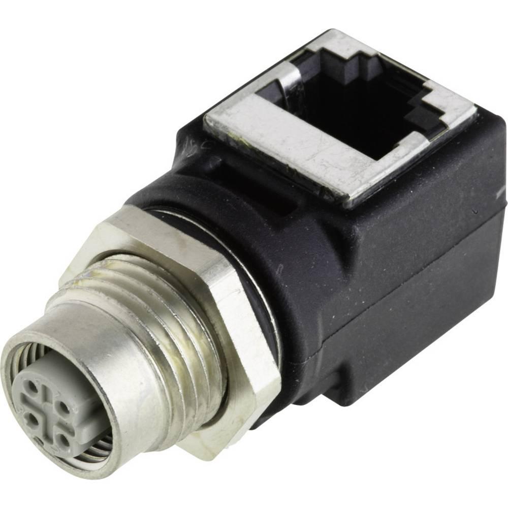 Adapterska M12 vtičnica - RJ45 kotna HARAX® M12-L Harting vsebuje: 1 kos