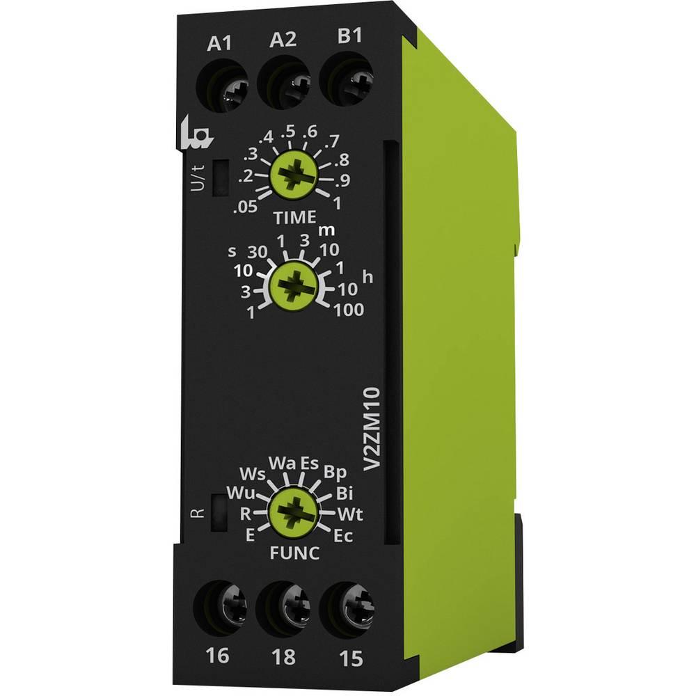 Tidsrelæ tele V2ZM10 12-240V AC/DC Multifunktionel 0.05 s - 100 h 1 x skiftekontakt 1 stk