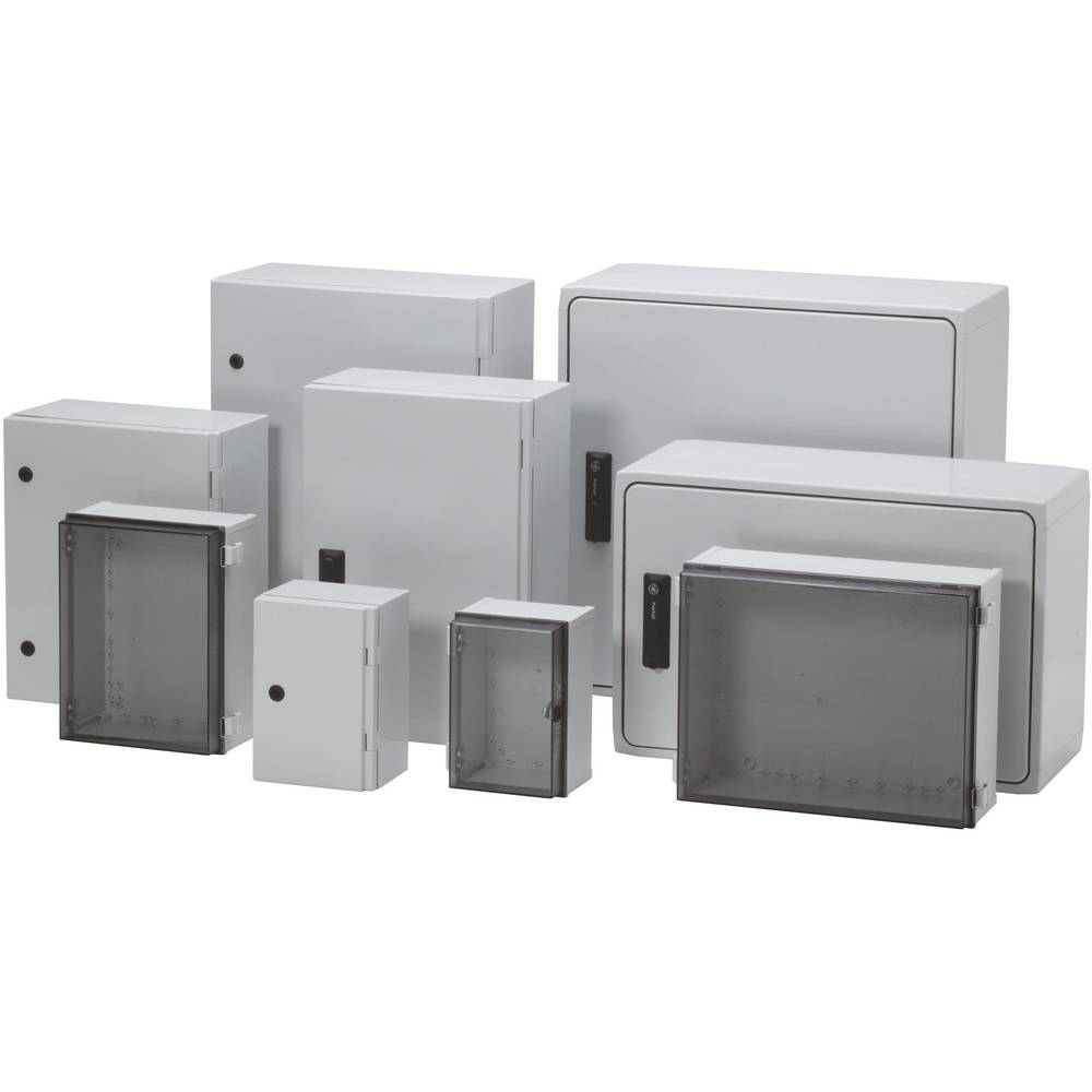 Kabinet til montering på væggen, Installationskabinet Fibox CAB PC 604022 T3B 600 x 400 x 220 Polycarbonat 1 stk