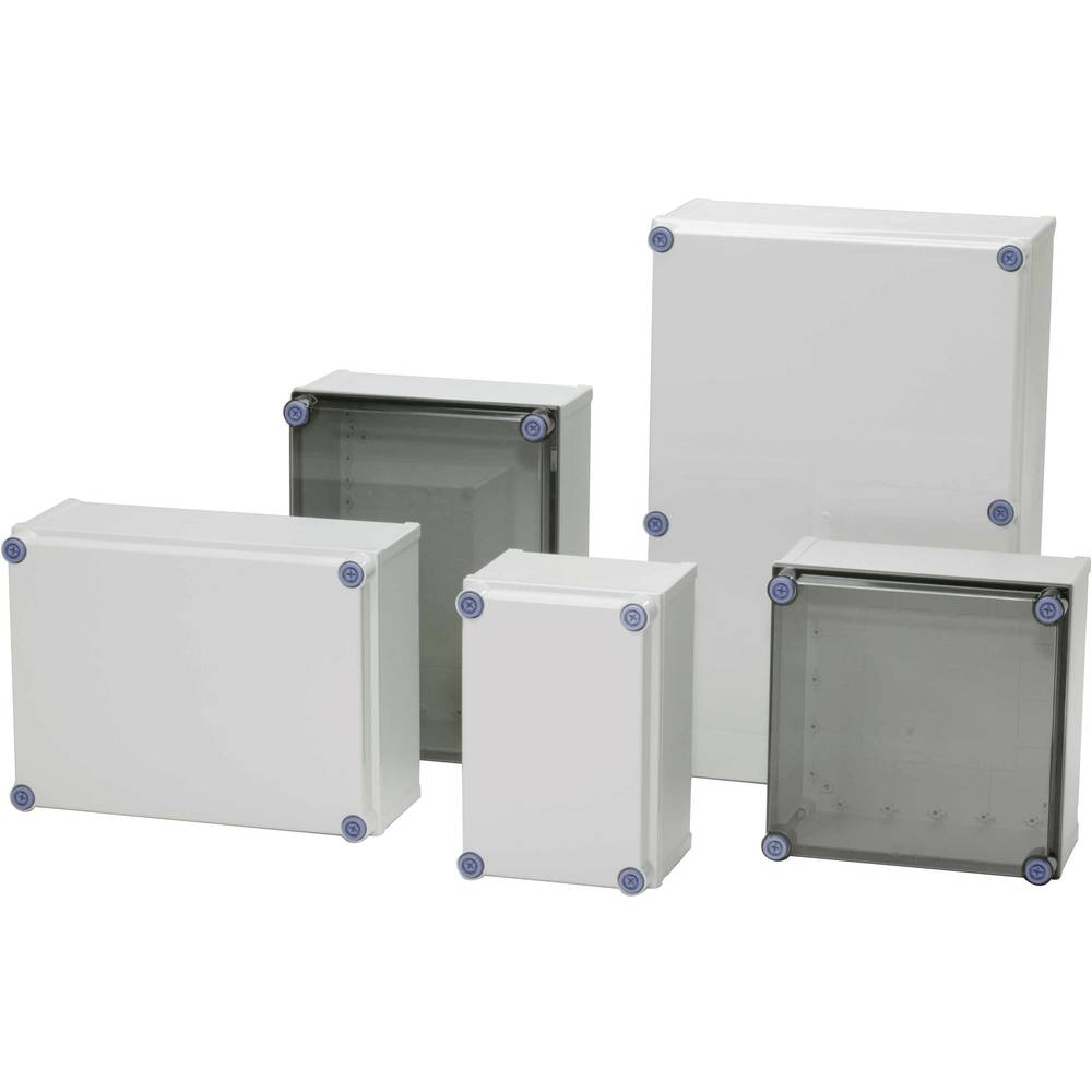 Kabinet til montering på væggen, Installationskabinet Fibox CAB PCQ 403017 T 400 x 300 x 170 Polycarbonat 1 stk