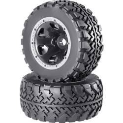 Komplet koles za modele Monstertruck, Reely, 1:5, profil Block, 6 naper, črna, 1 par