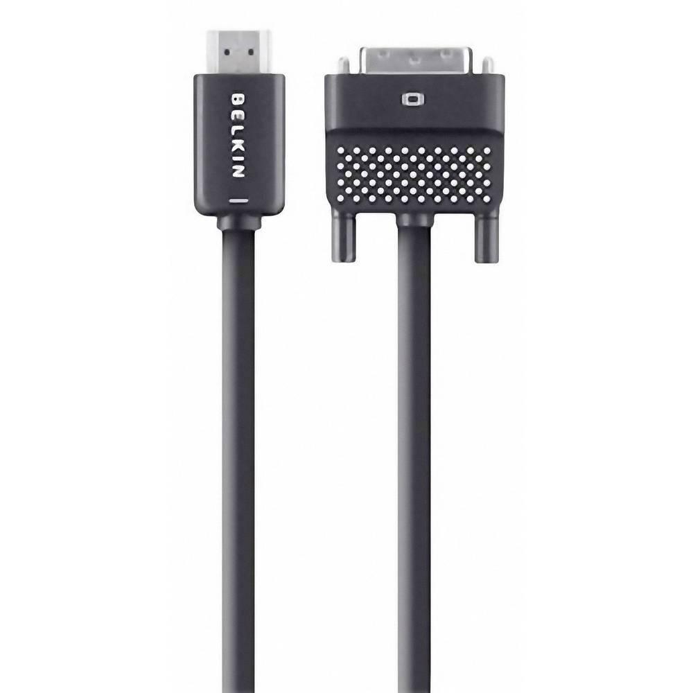 HDMI/DVI kabel Belkin [1x HDMI Utičnica => 1x DVI-Utičnica 24 +1 pin.] 3.60m, crn, AV10089bt12
