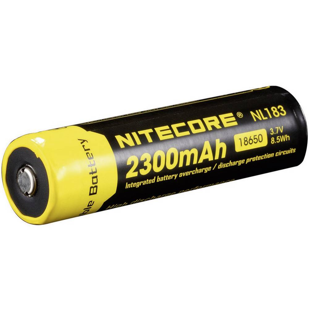 NiteCore 18650 LiIon-Akku 2300 mAh žepna svetilka-dodatna oprema NL183 za Universal NIT1865023