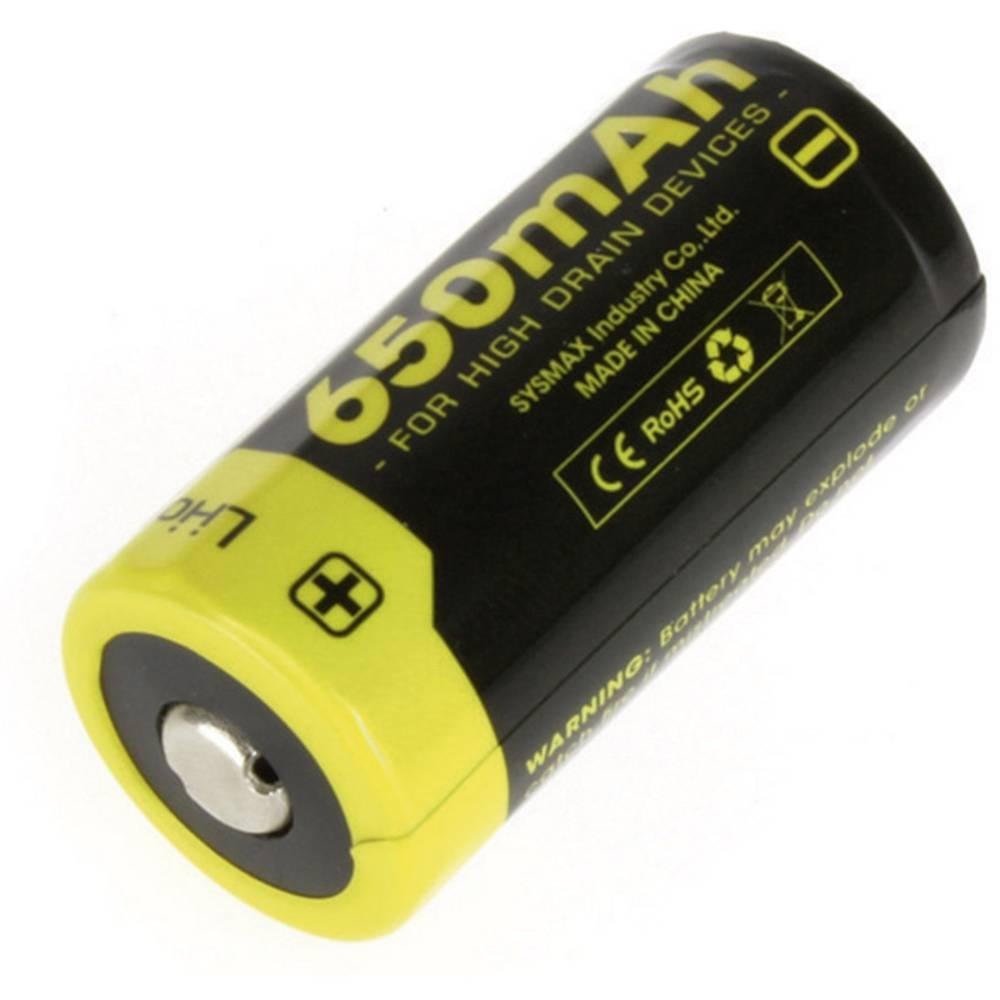 NiteCore 16340 Li-Ion akumulator 650 mAh za žepno svetilko NL166