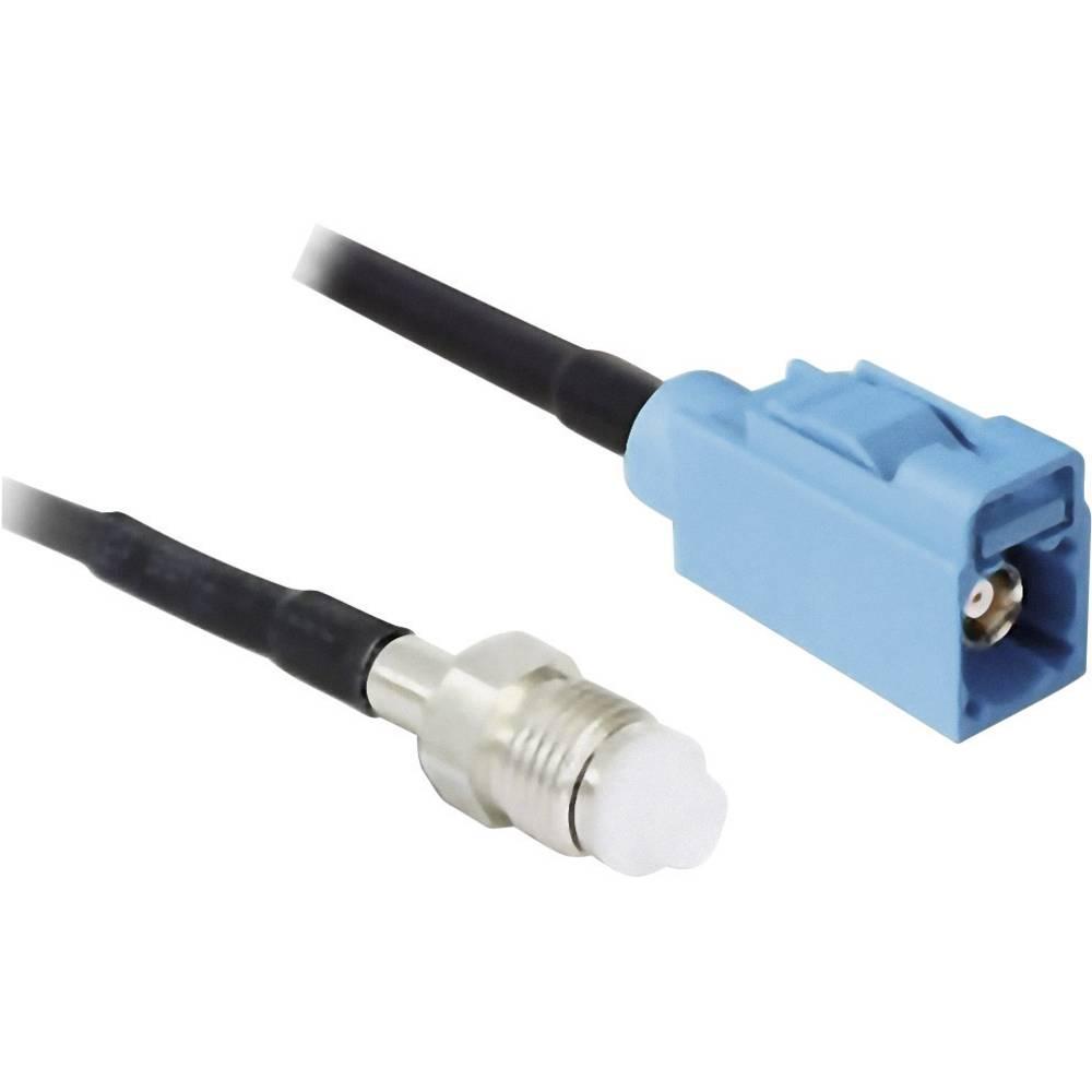 WLAN Antenski Podaljševalni kabel [1x FME-vtič - 1x SMBA vtič] 2 m črn Delock 88630