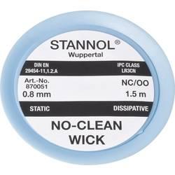 Lödfläta Stannol NC/OO Längd 1.5 m Bredd 0.8 mm
