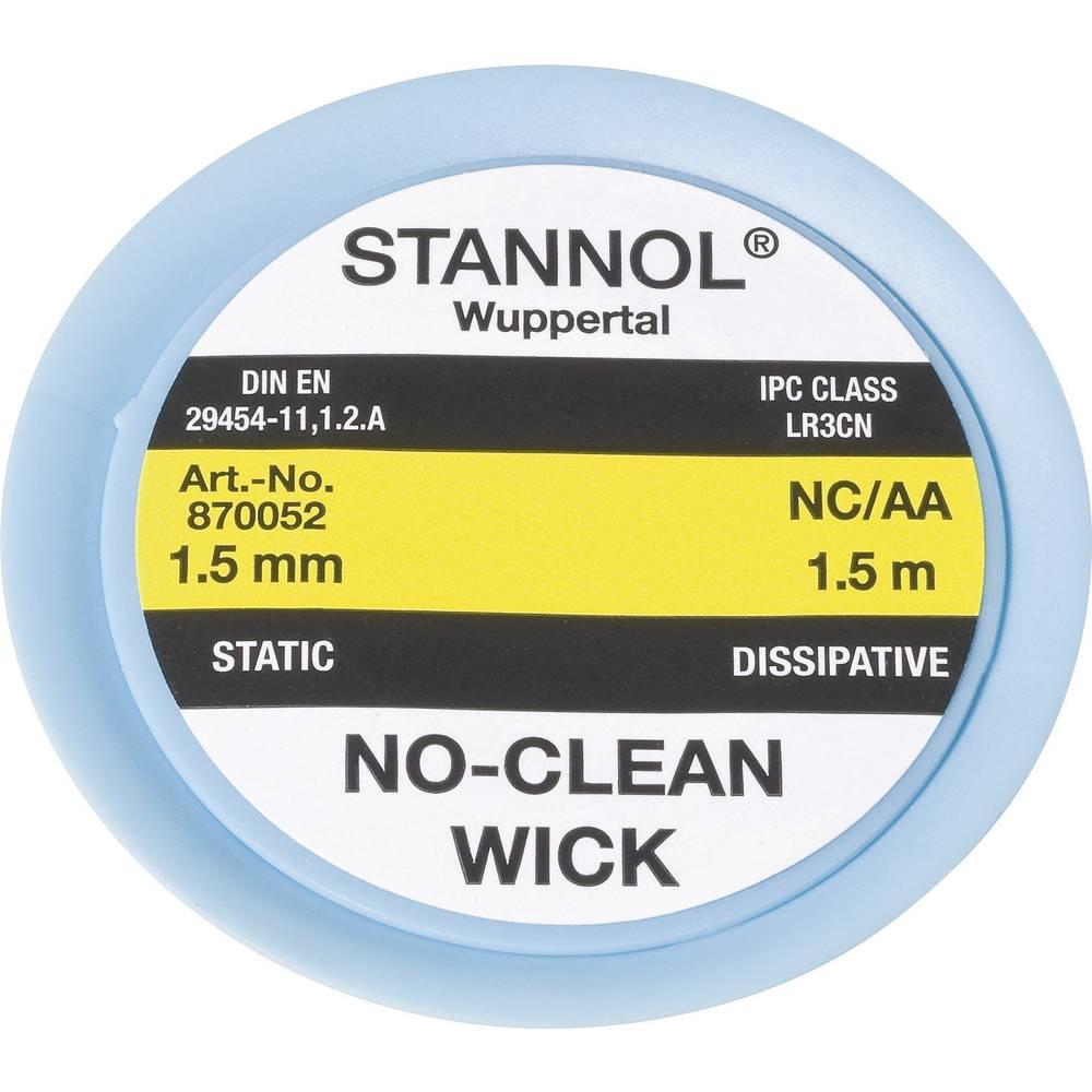 Pletenica za razspajkanje Stannol NC/AA dolžina 1.5 m širina 1.5 mm