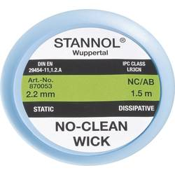 Lödfläta Stannol NC/AB Längd 1.5 m Bredd 2.2 mm