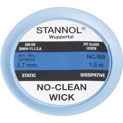 Lödfläta Stannol NC/BB Längd 1.5 m Bredd 2.7 mm