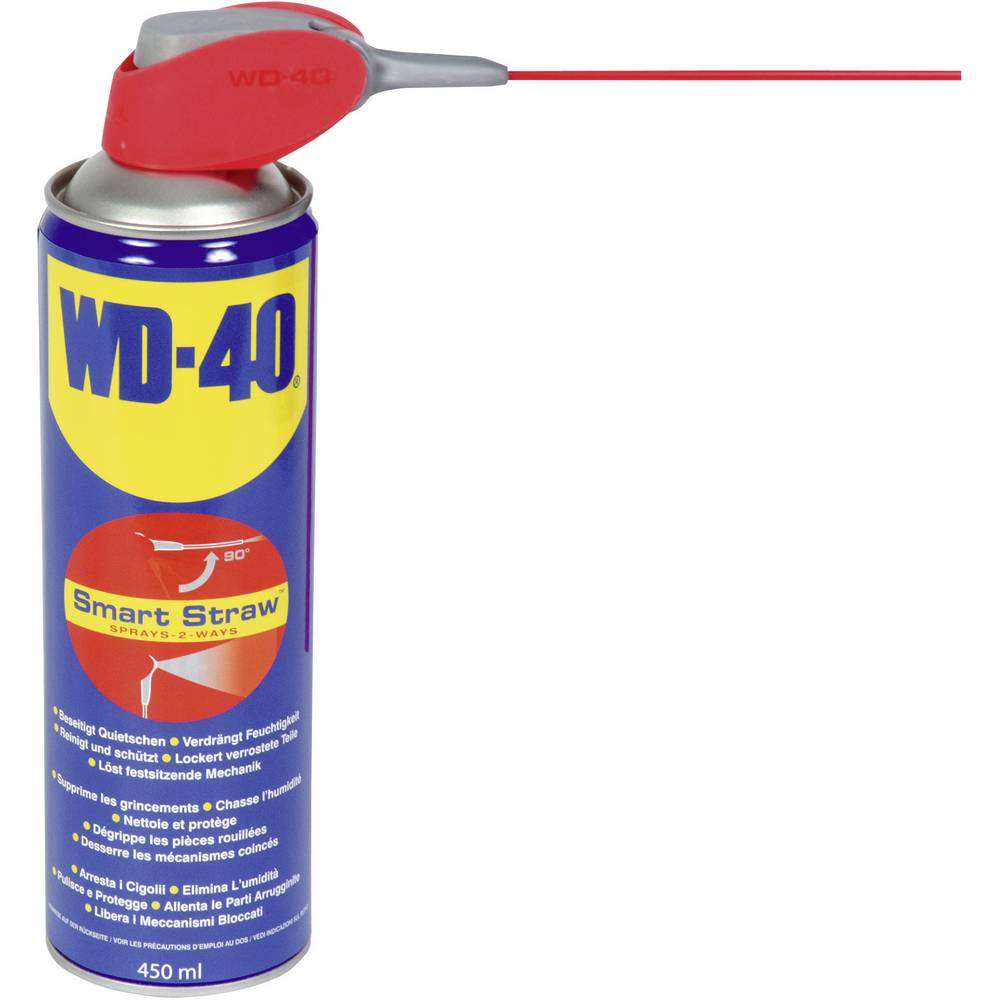 Večnamensko sredstvo WD-40 Smart Strawt s fiksno vgrajeno pršilno cevko, 450 ml