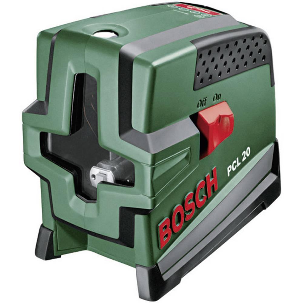 Križnolinijski laser Samonivelirajući Bosch Home and Garden PCL 20 Raspon (maks.): 10 m Kalibriran po: ISO