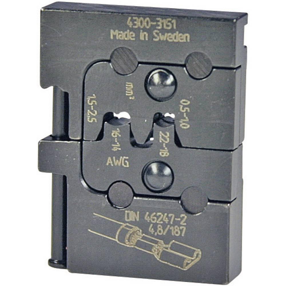 Vložek za stiskanje Pressmaster, 0,50-1,0/1,5-2,5 mm2, neizolirani ploščati vtiči