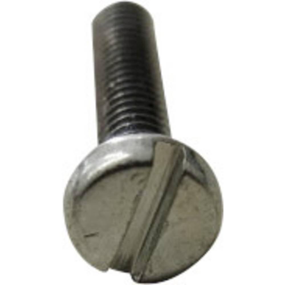 Cylinderskruvar TOOLCRAFT M3.5 16 mm Spår DIN 84 Stål galvaniskt förzinkad 200 st