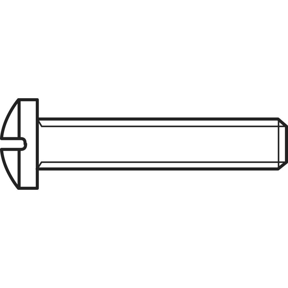 Skruv linsformad TOOLCRAFT M4 16 mm Stjärnskruvmejsel Philips DIN 7985 Stål galvaniskt förzinkad 100 st