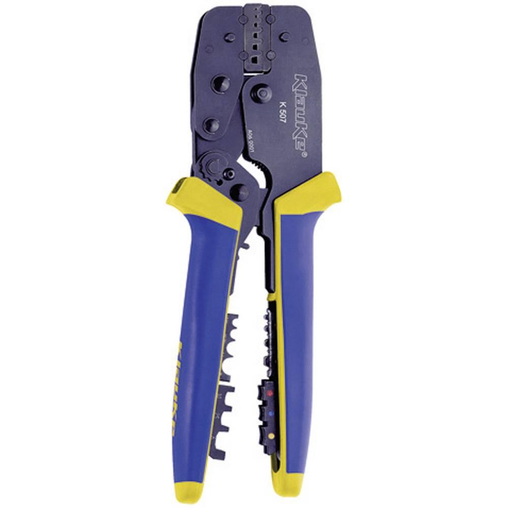 Kliješta za prešanje 4-dijelni komplet za izolirane kabelske konektore, završne tuljke, spojne kabelske stopice Klauke K507