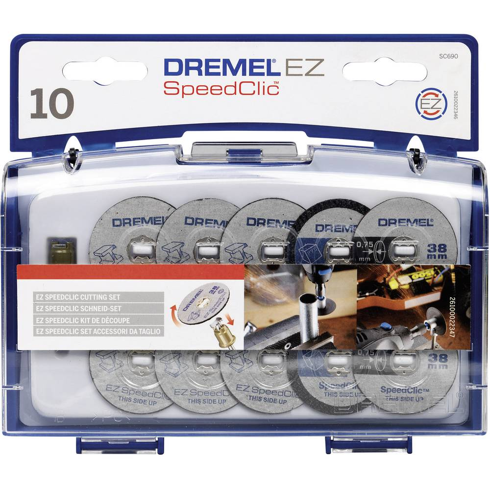 DREMEL® SpeedClic rezalni komplet, 12-delni Dremel 2.615.S690.JA premer 38 mm 1 komplet