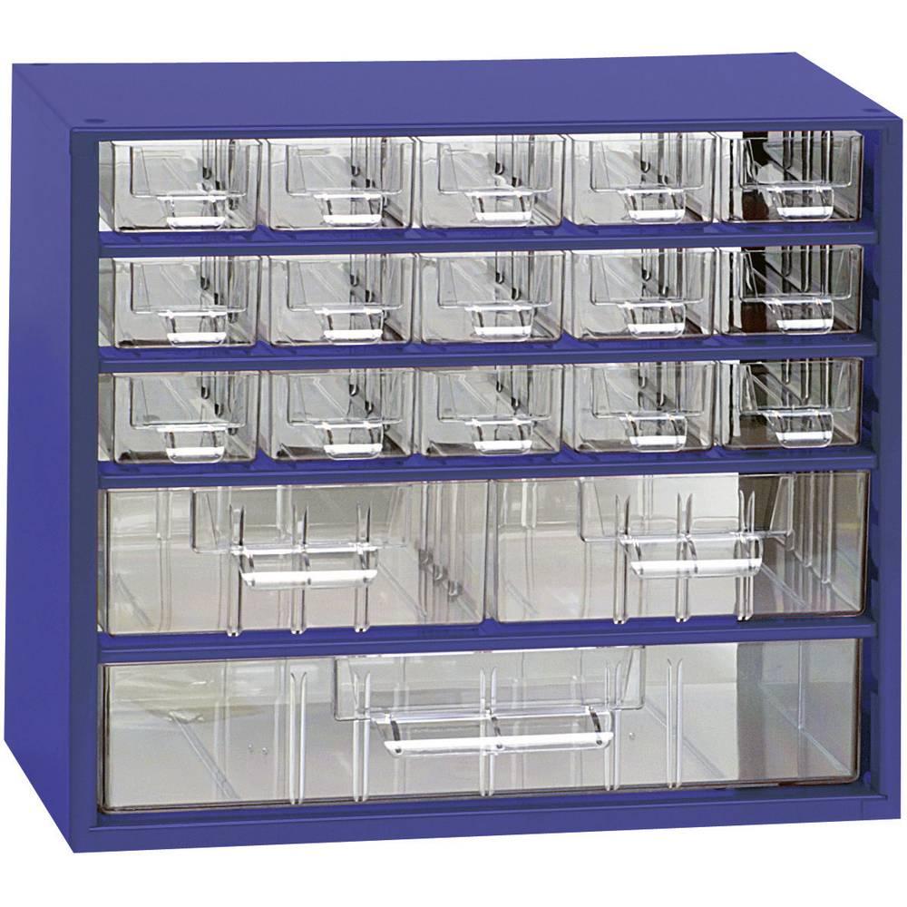 Sortirni predalnik za delavnico (D x Š x V) 306 x 282 x 155 mm št. predalov: 18 fiksna pregraditev