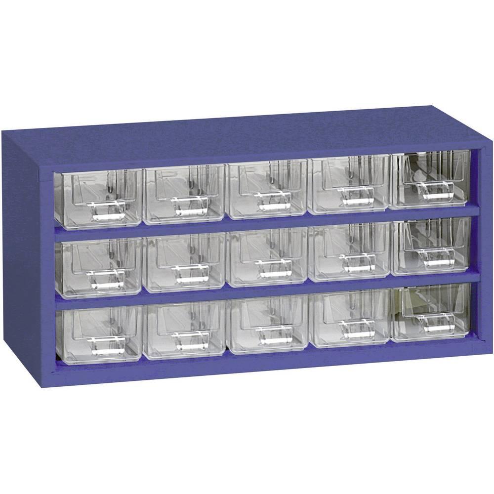 Sortirni predalnik za delavnico (D x Š x V) 306 x 147 x 155 mm št. predalov: 15 fiksna pregraditev