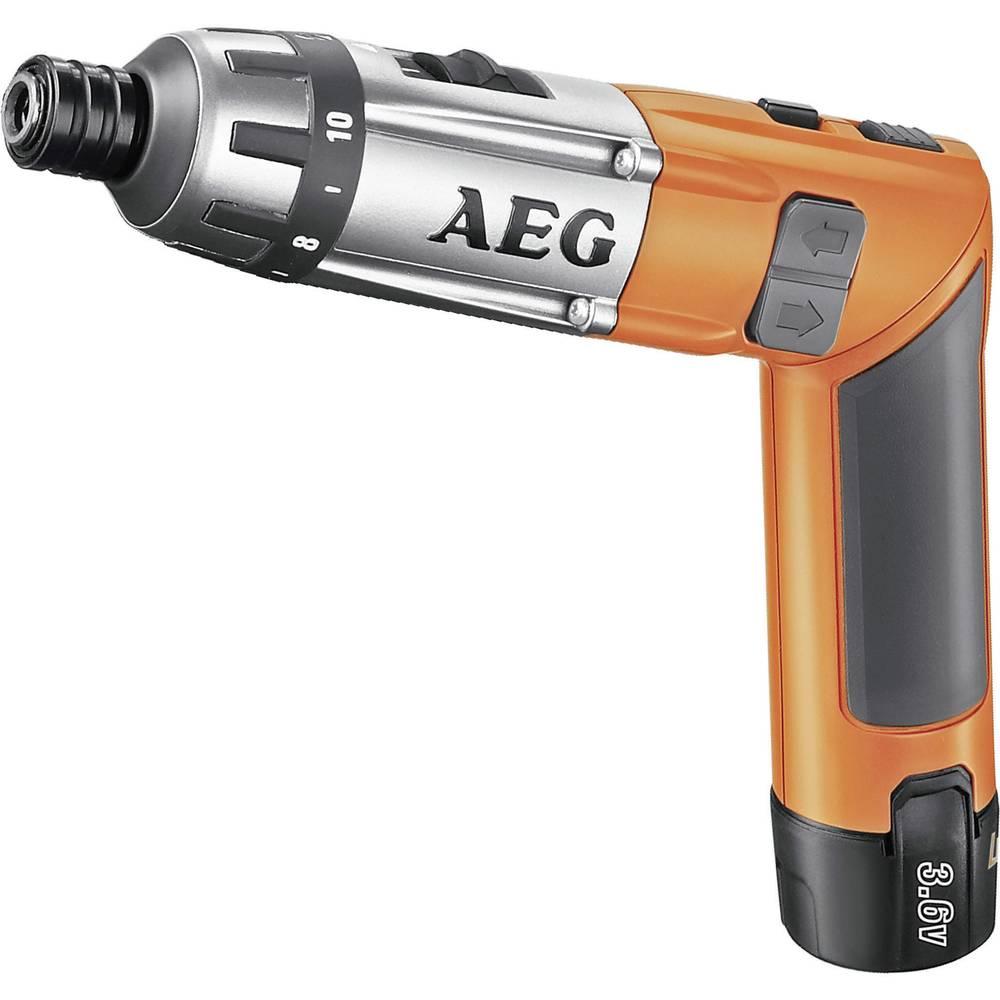 AEG Powertools SE 3,6 pregibni odvijač na bateriju 3.6 V 1.5 Ah Li-Ion + 2. baterija + kofer