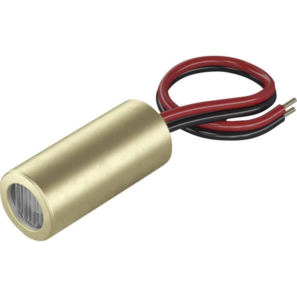 Laserski modul, križna linija, crvene boje 5 mW Laserfuchs LFC650-5-12(9x20)