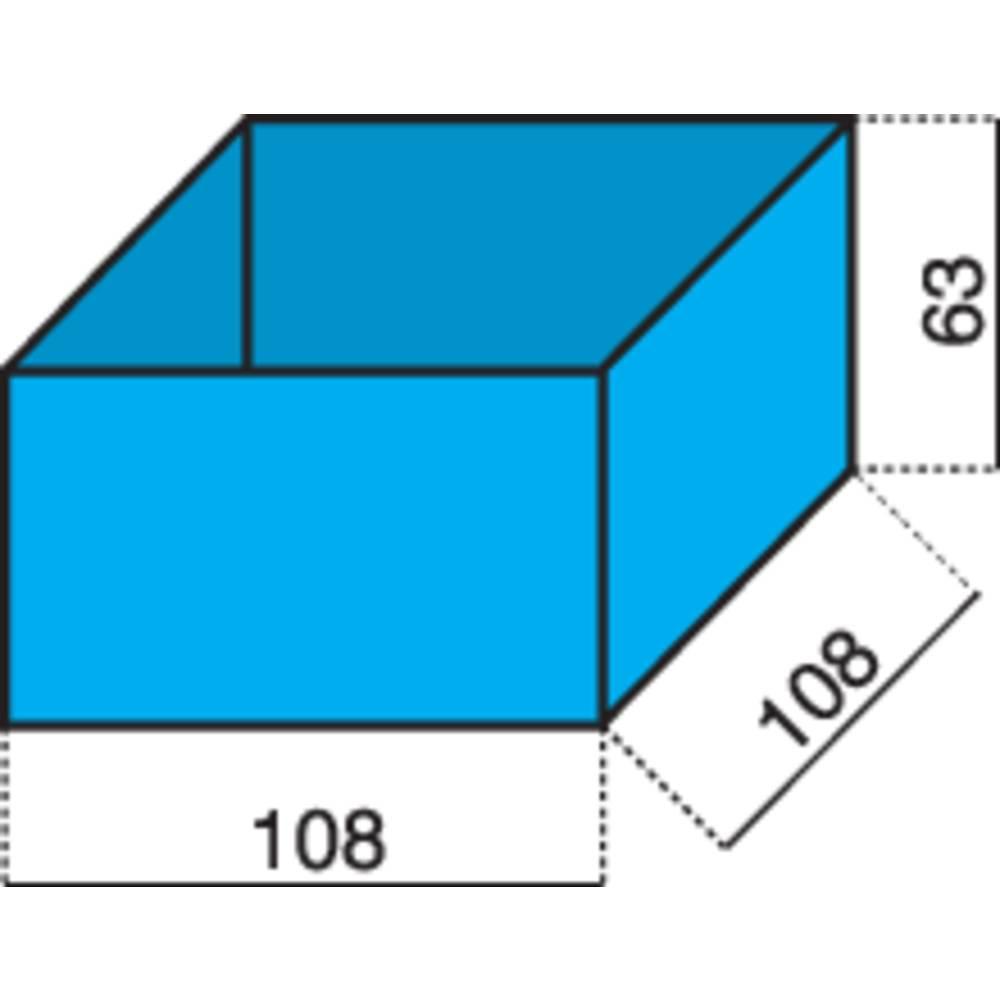 Vložek za sortirni kovček (D x Š x V) 108 x 108 x 63 mm Alutec št. predalov: 1