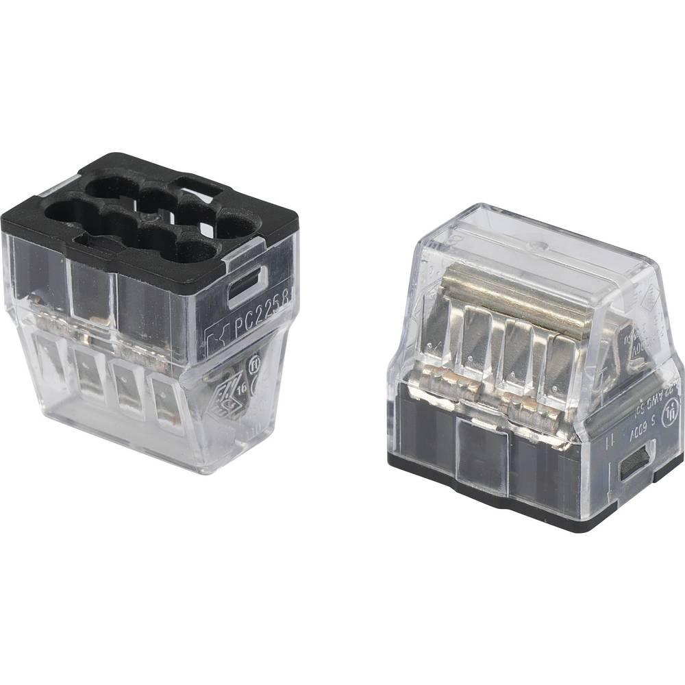 Priključna sponka fleksibilna: - starr: 1-2.5 mm št.polov: 8 1 kos Transparent, črna