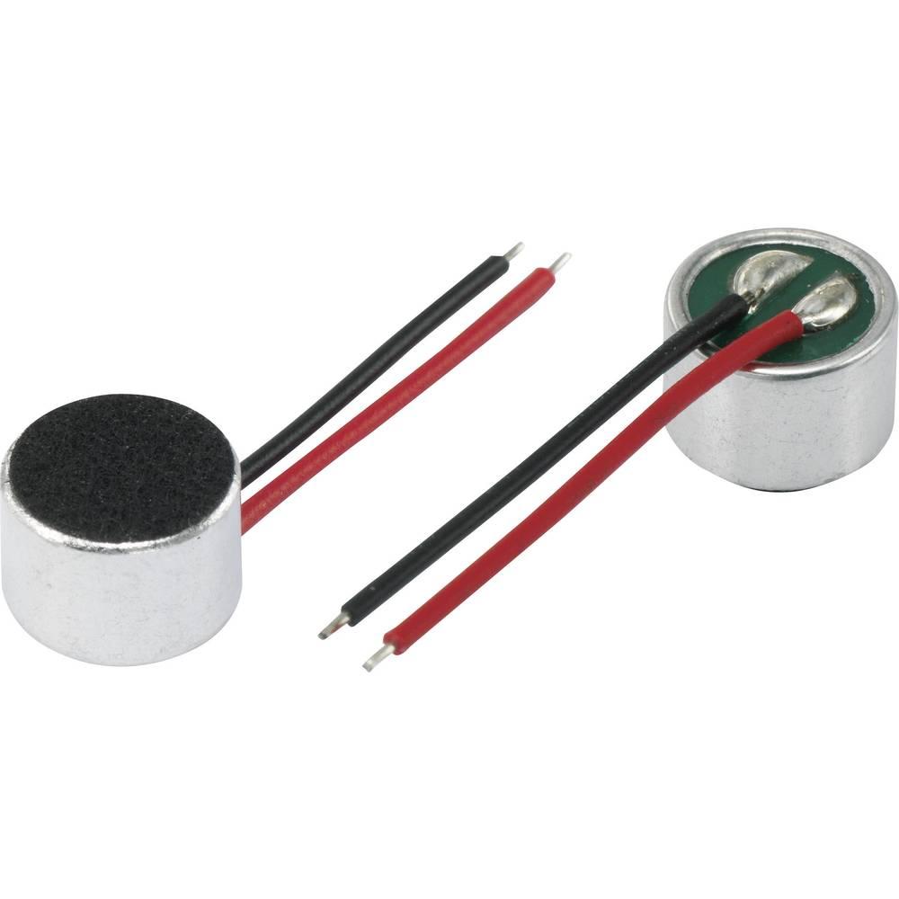 Mikrofonska kapsula serije KPCM, obratovalna napetost 4,5 V/DC, občutljivost 40 dB ± 3 dB frekvenčno območje 100 - 10000
