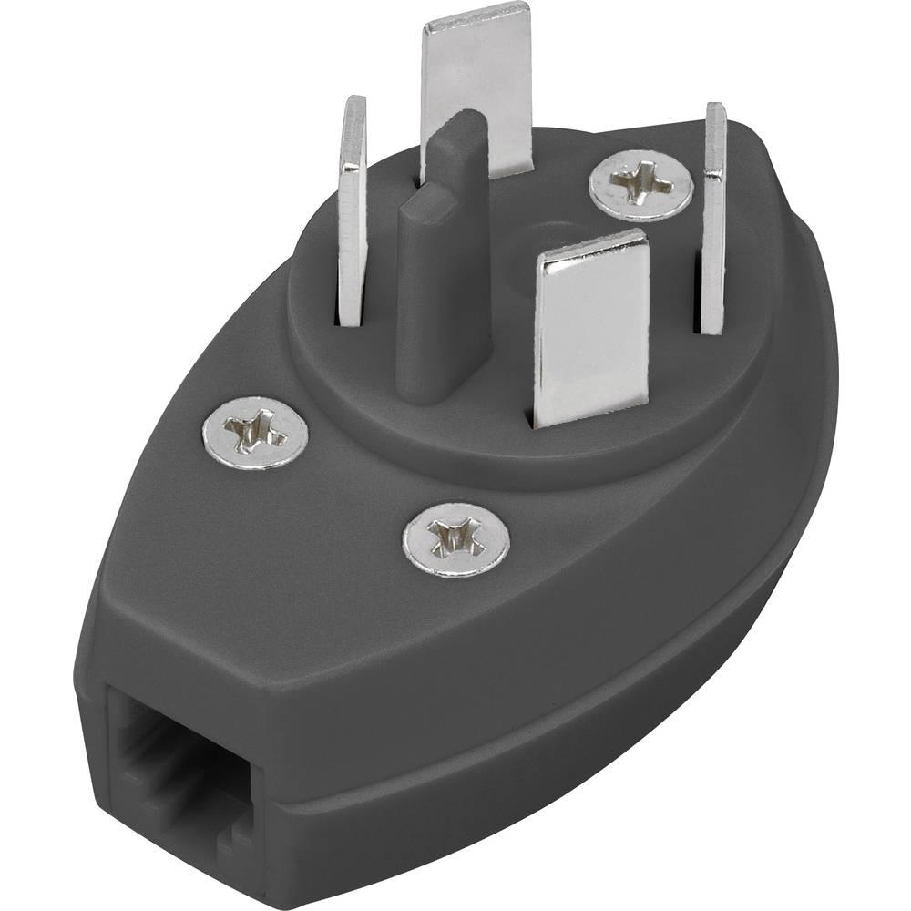 Telefonski (analogni) adapter [1x telefonski vtič Švedska - 1x RJ11 vtič 6P4C] 0 m Bela
