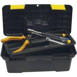 Kovček z orodjem, brez vsebine Donau RB25 iz umetne mase črne barve, rumene barve