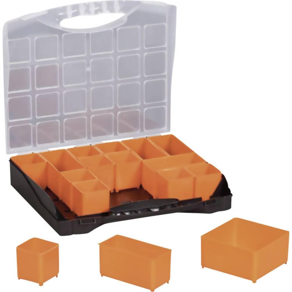 Sortirni kovček (D x Š x V) 300 x 255 x 54 mm Alutec št. predalov: 16 nastavljivo pregrajevanje