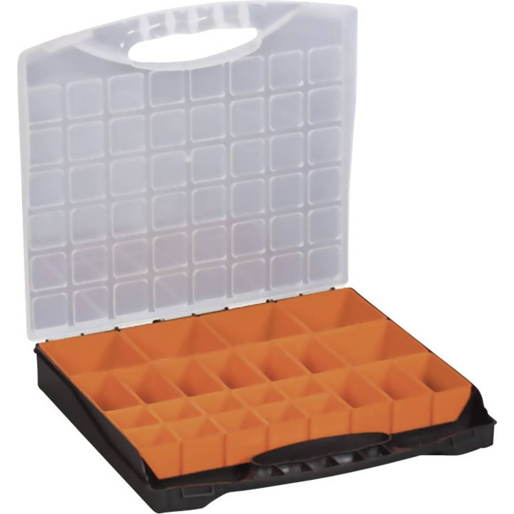 Sortirni kovček (D x Š x V) 400 x 370 x 58 mm Alutec št. predalov: 24 nastavljivo pregrajevanje