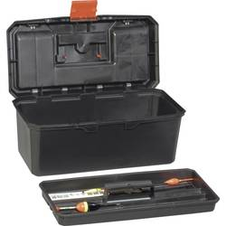Kovček za orodje, brez vsebine Alutec 56260 iz umetne mase črne barve, oranžne barve