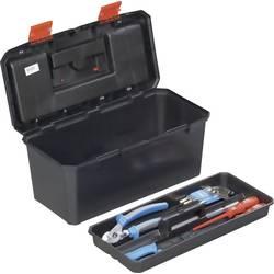 Kovček za orodje, brez vsebine Alutec 56270 iz umetne mase črne barve, oranžne barve