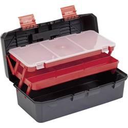 Kovček za orodje, brez vsebine Alutec 56300 iz umetne mase črne barve, oranžne barve