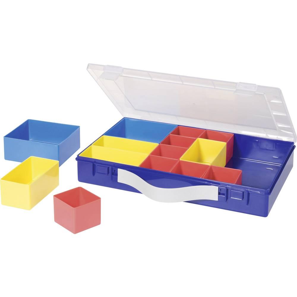 Sortirni kovček (D x Š x V) 332 x 232 x 55 mm Alutec št. predalov: 14 nastavljivo pregrajevanje