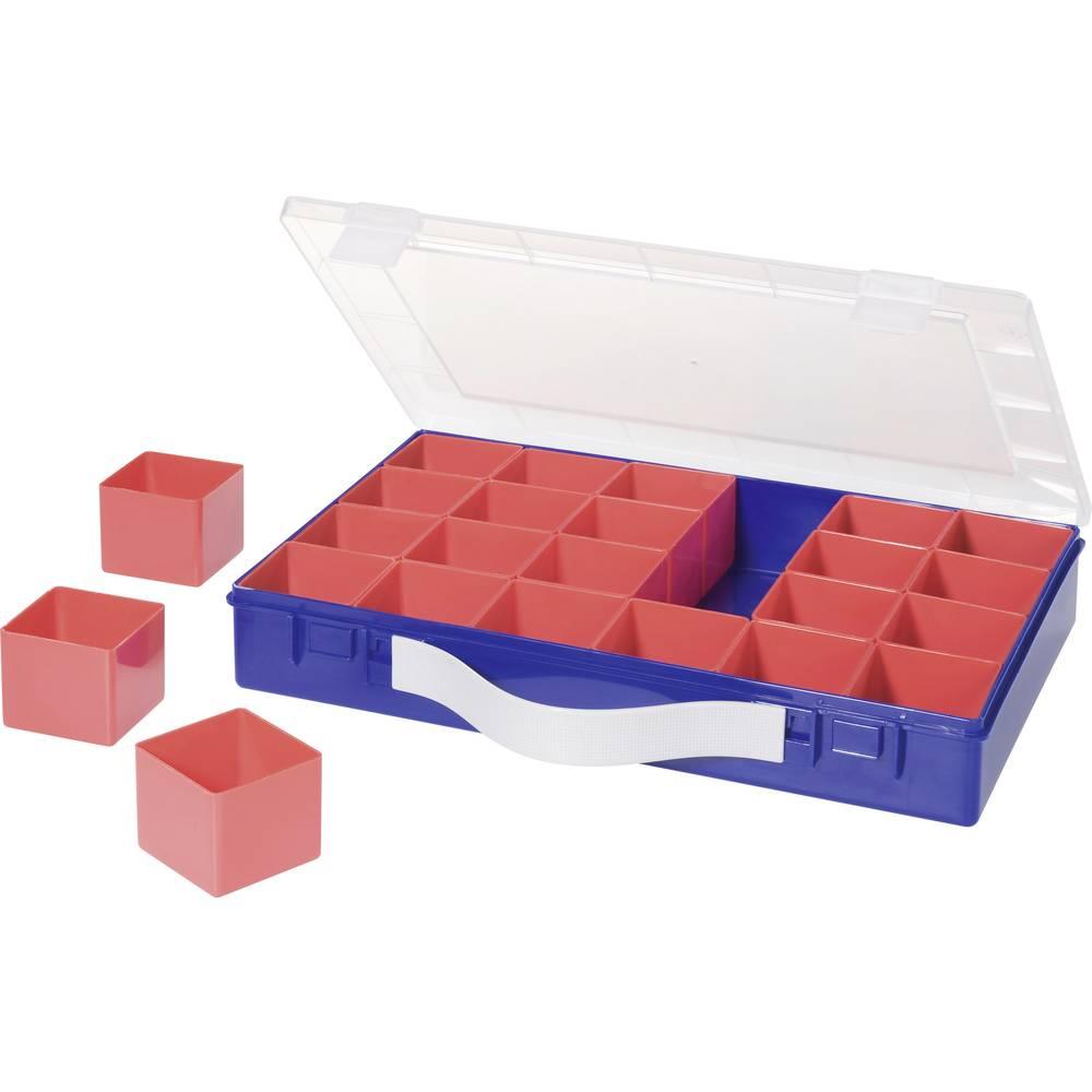 Sortirni kovček (D x Š x V) 332 x 232 x 55 mm Alutec št. predalov: 24 nastavljivo pregrajevanje