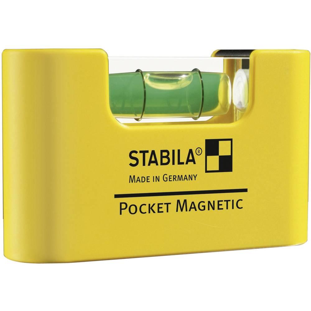 Mini-vodna tehtnica 7 cm Stabila POCKET MAGNETIC 17774 1 mm/m kalibracija narejena po: delovnih standardih