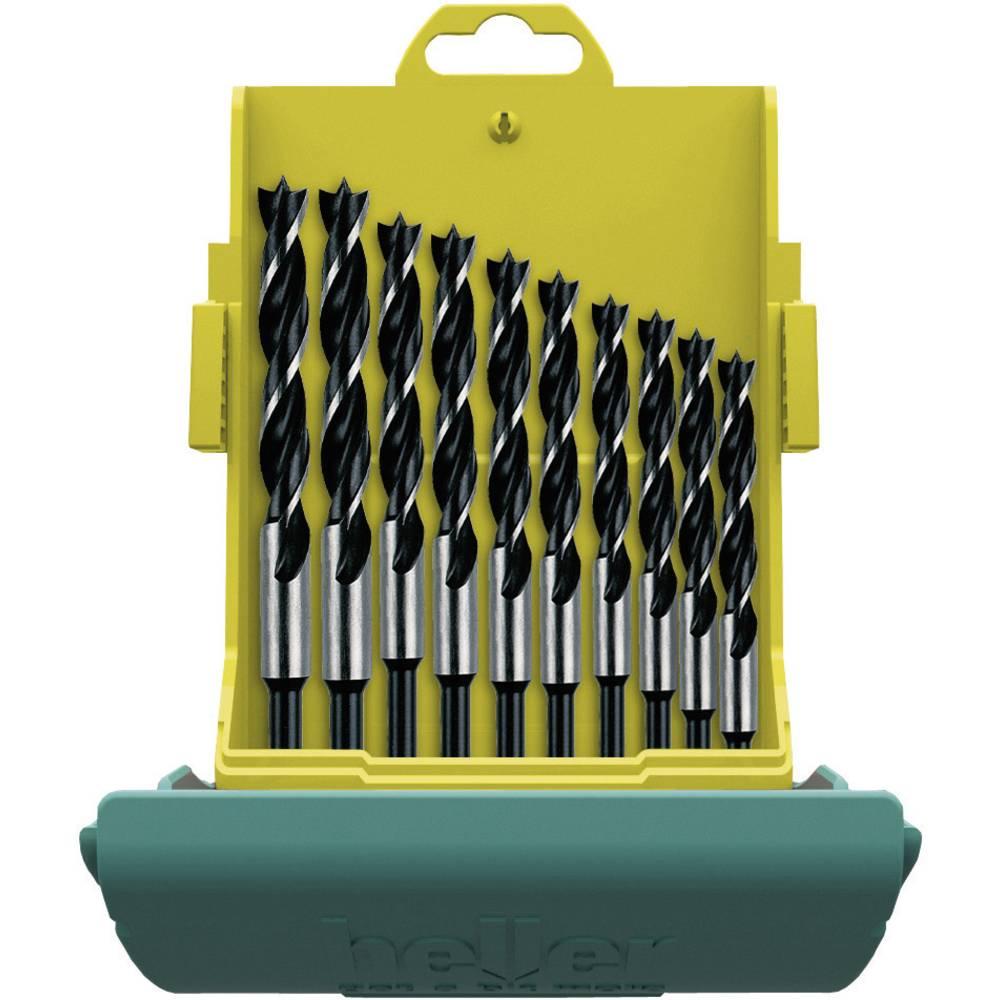 Set spiralnih svrdla za drvo 10-dijelni Heller 24646 0 cilindrična drška 1 Set