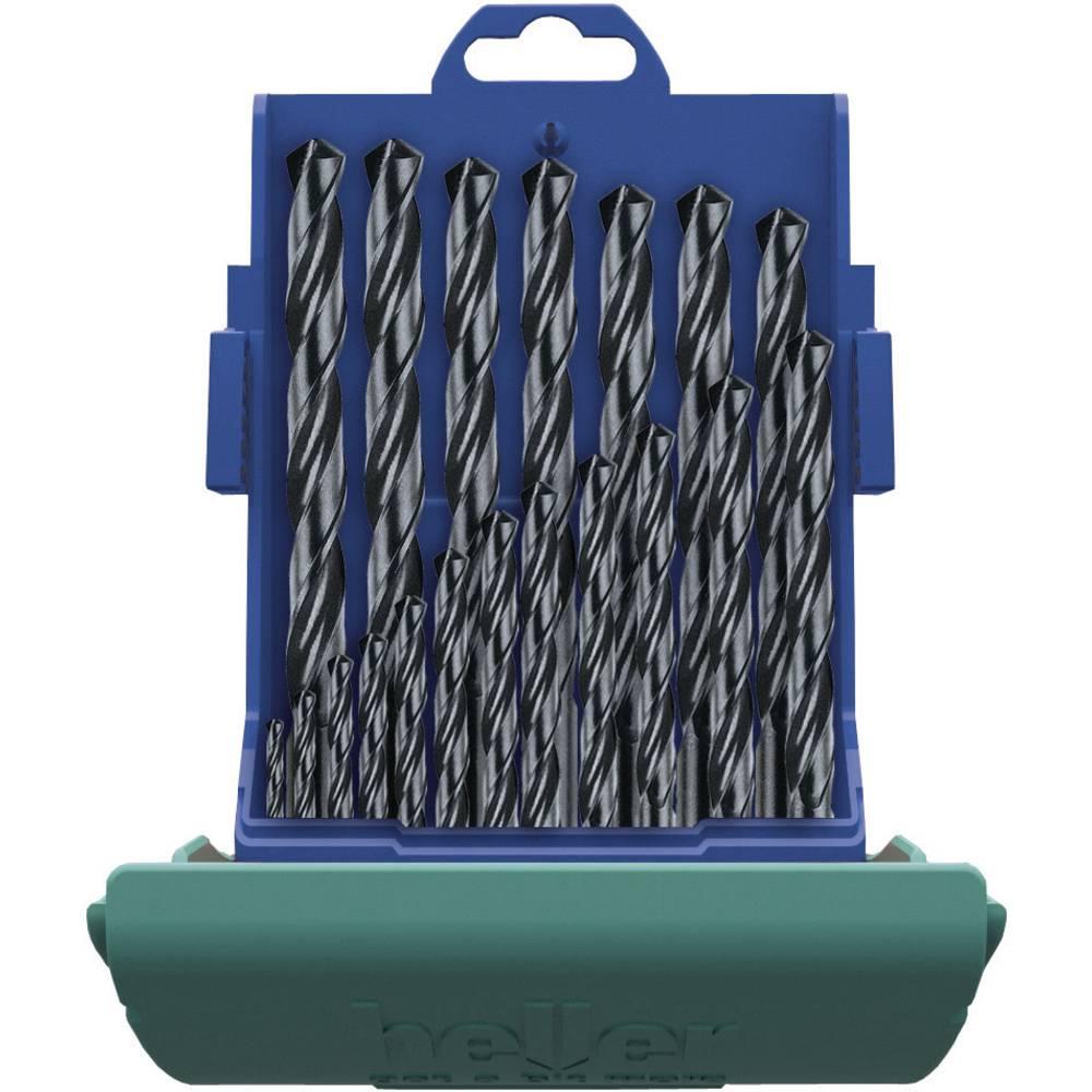 Set metalnih spiralnih svrdla HSS 19-dijelni Heller 17737 5 rolan DIN 338 cilindrična drška 1 Set