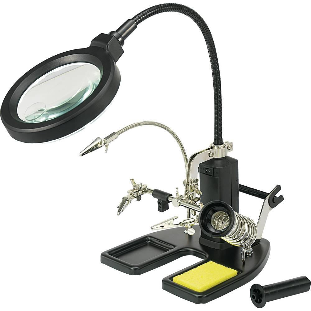 LED svjetiljka s povećalom i 3. ručkom 826054 TOOLCRAFT