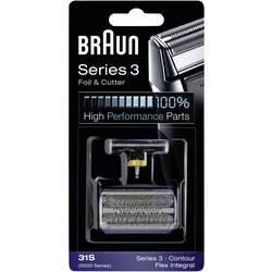 Skärhuvud och skärfolie Braun 31S - Kombipack 5000 Silver 1 set